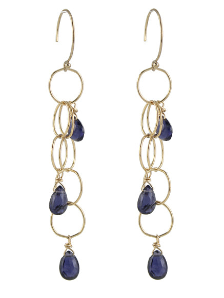 Iolite Cascade Gem Earrings