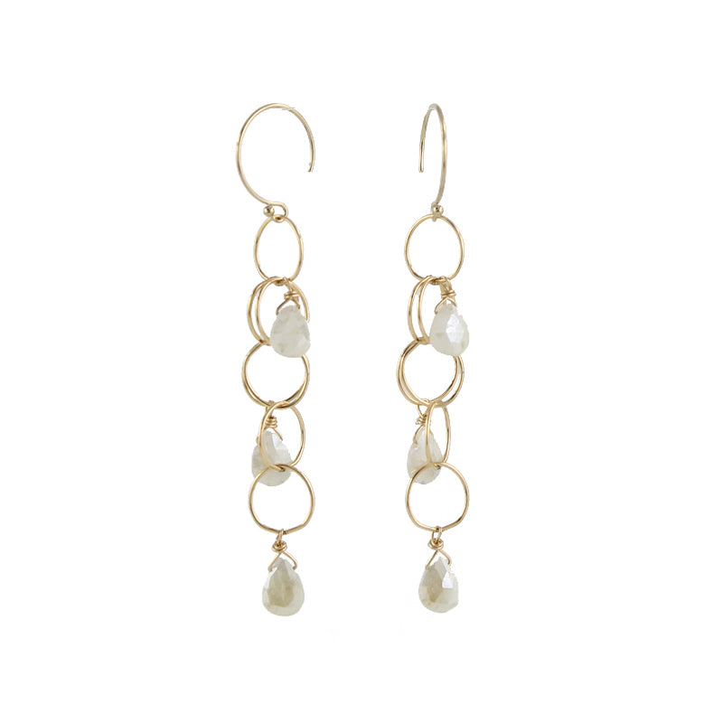 Gemstone Cascade Earrings