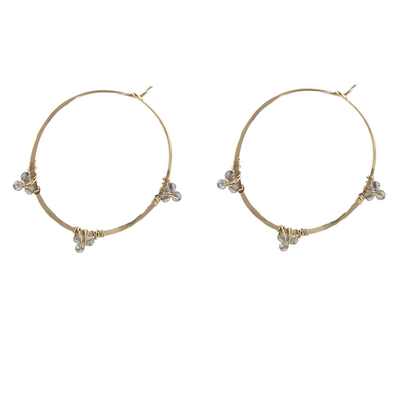 Gemmed Hoop Earrings