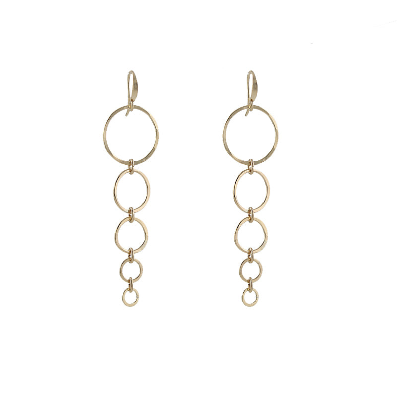 Graduated circles earrings