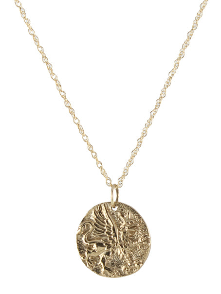 Ancient Griffin Coin Necklace