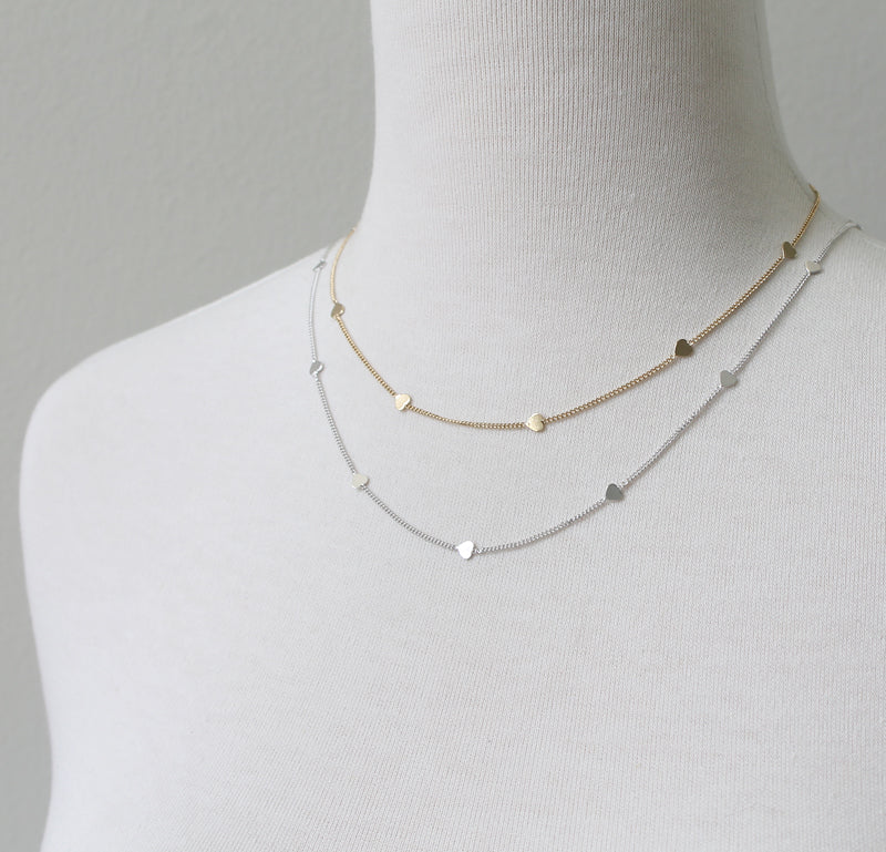 Simple Hearts Necklace by Peggy Li