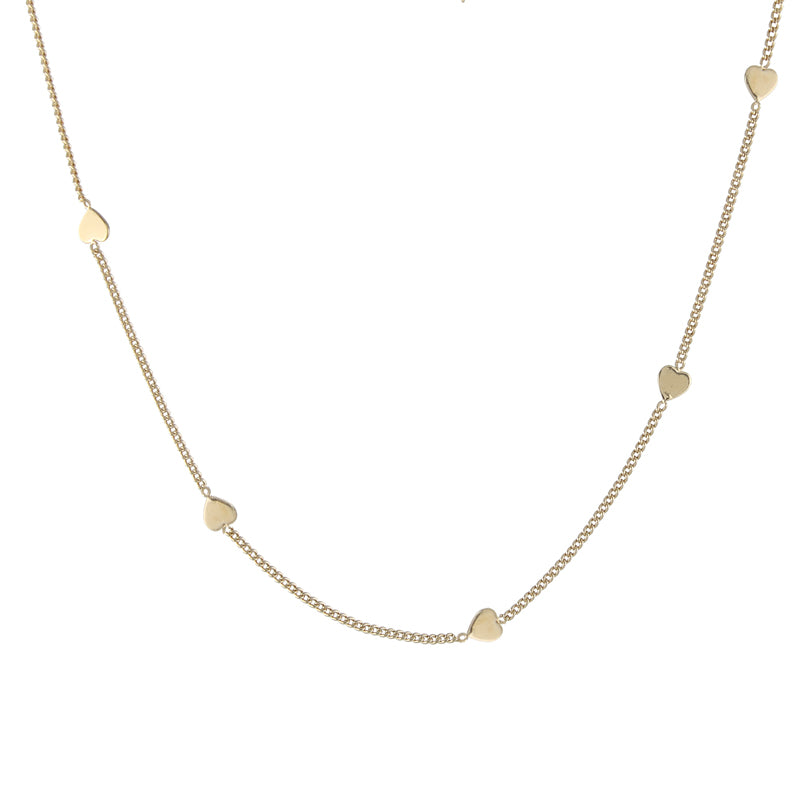 Simple Hearts necklace, gold