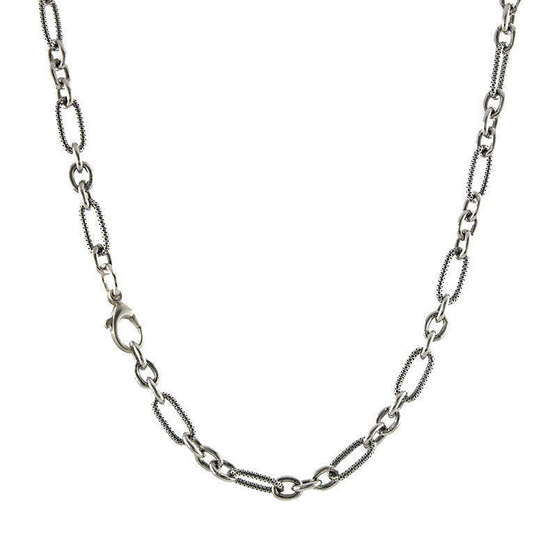 Heavy Mixed Link Necklace
