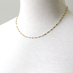 Herkimer Barrel Chain necklace