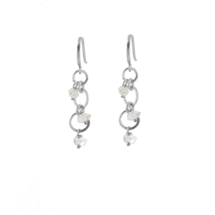 Herkimer Sprinkle Earrings in silver