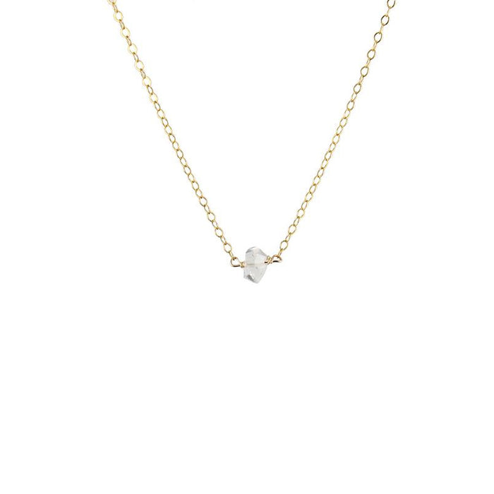 Herkimer Diamond solitaire necklace