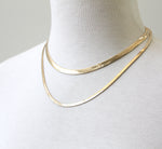 Wide Herringbone Chain gold