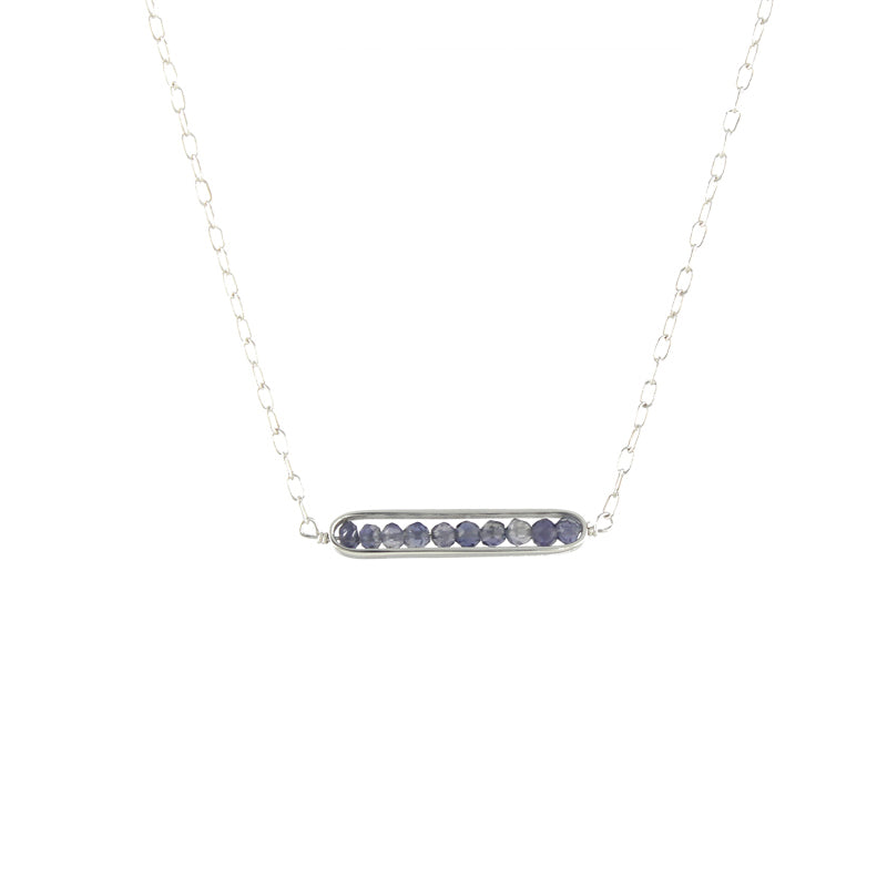 Framed Iolite Necklace