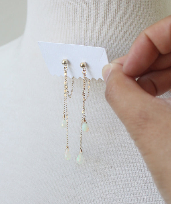 Jules Earrings with opals