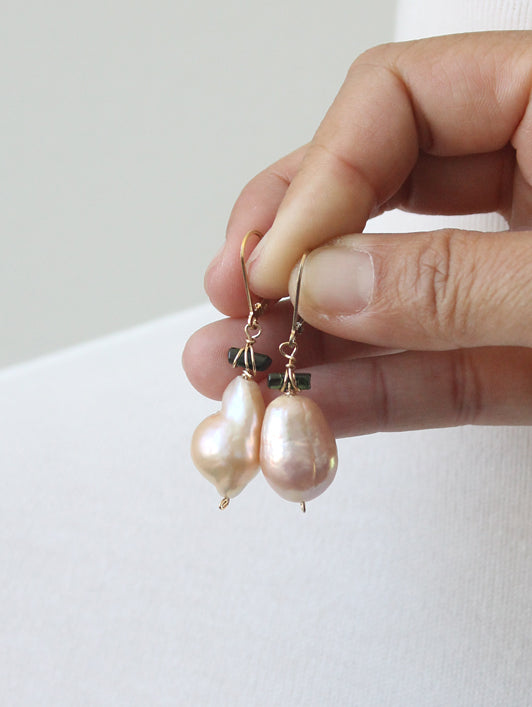 Plush Baroque Pearl Earrings