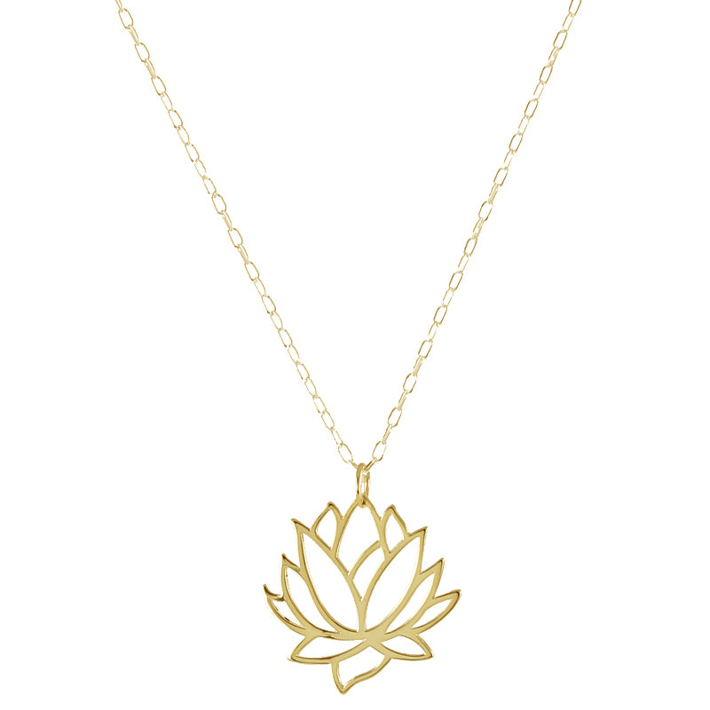 Large Lotus Necklace