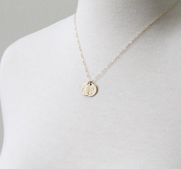 Cursive Initial Necklace by Peggy Li