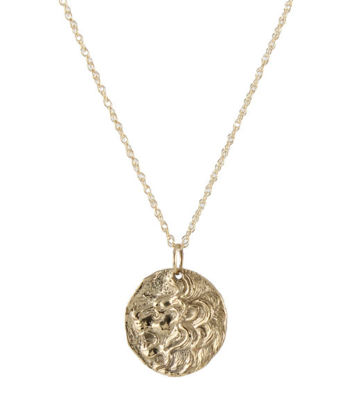 Ancient Lion Coin Necklace