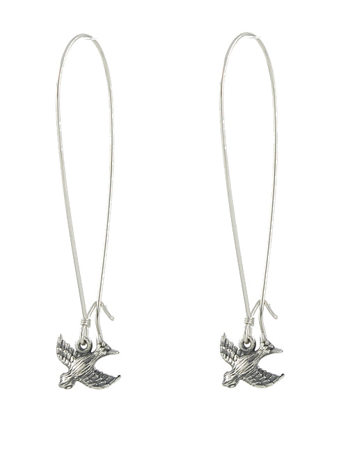 Little Bird Earrings, sterling silver
