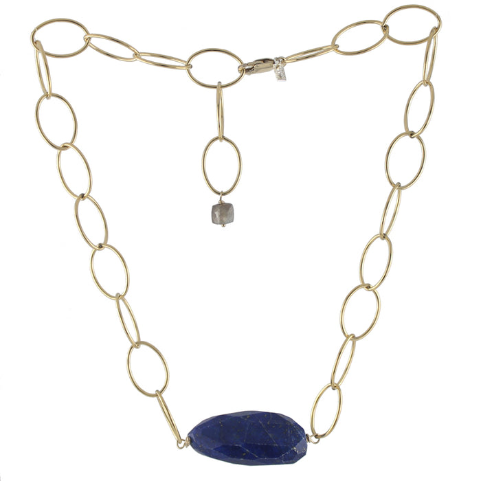 Loopy Necklace in lapis by Peggy Li