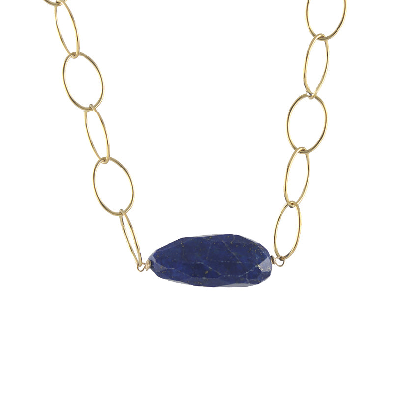 Loopy Necklace - lapis