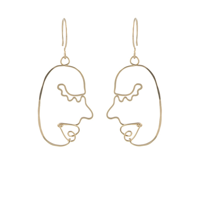 Art Face Earrings