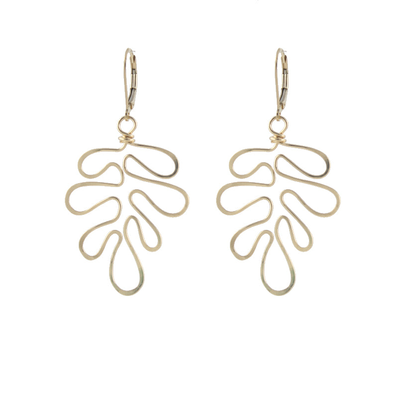 Matisse Cutout Fern Earrings