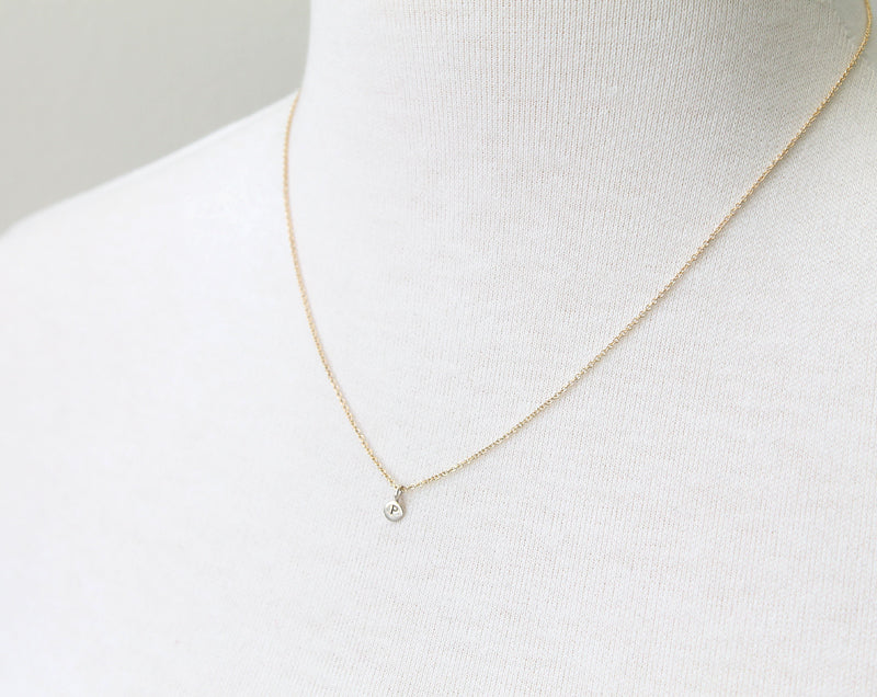 Micro Initial Necklace by Peggy Li Creations