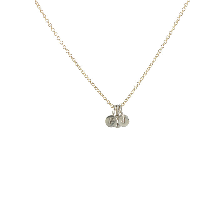 Micro Initial Charm necklace