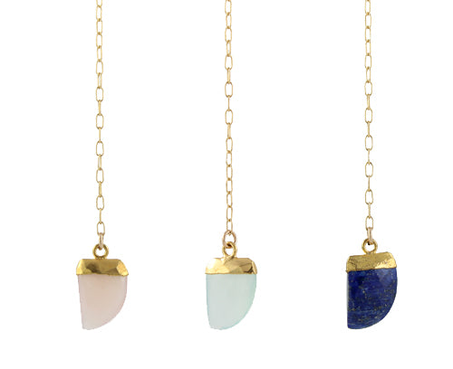 Mini Tusk Necklace stone colors