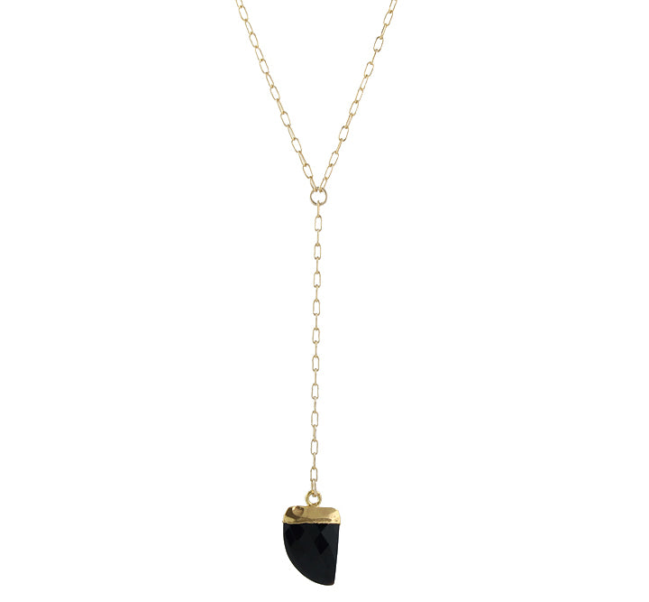 Mini Onyx Tusk Necklace