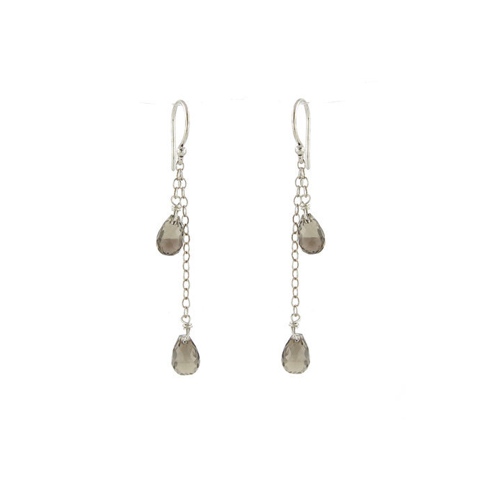 Classic Smoky Quartz Droplet Earrings