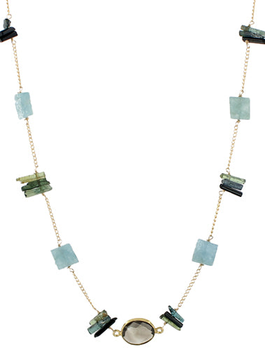 Tourmaline Aquamarine Harmony Necklace