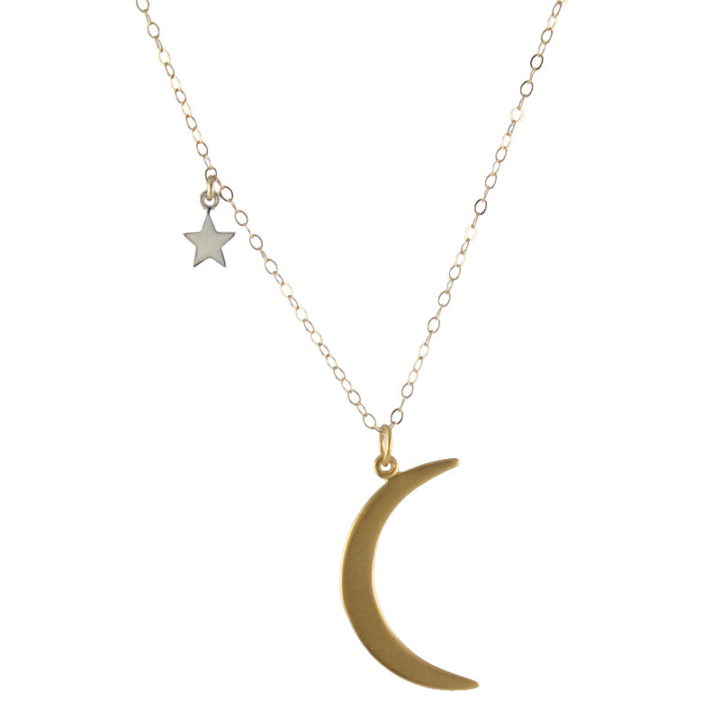 My Moon and Stars Necklace by Peggy Li Creations