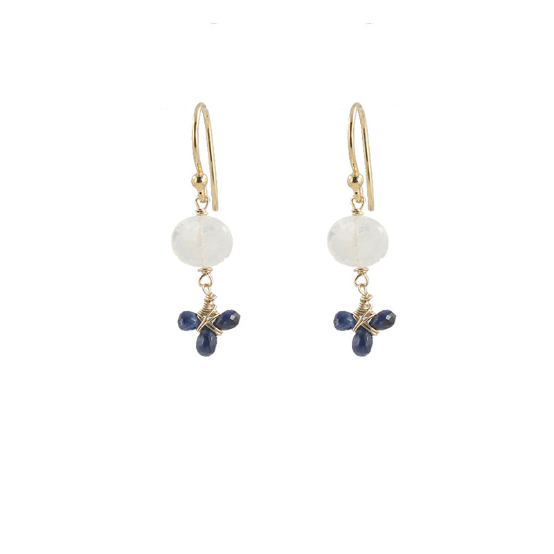 Moonstone Fleur Earrings