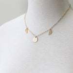 Moon Phase Necklace, gold