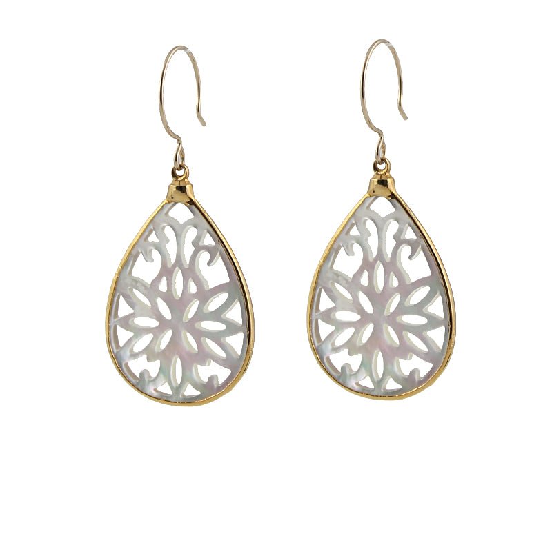 Scrollwork Mother of Pearl Earrings