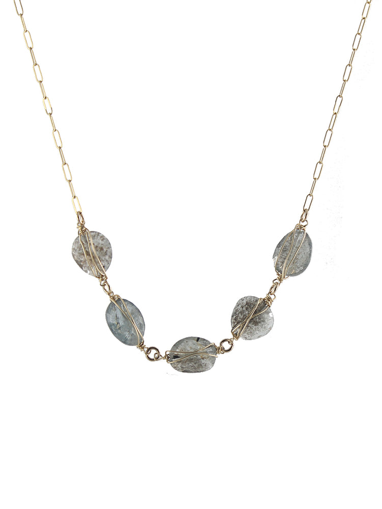 Mossy Aquamarine Necklace