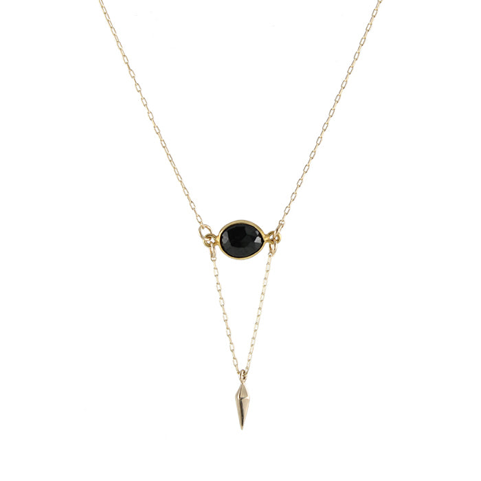 Onyx Point Necklace detail