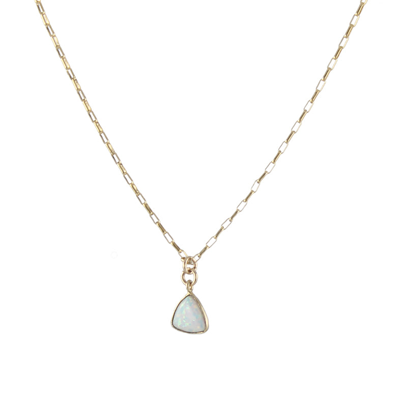 Trillion Opal Necklace