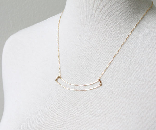 Open Arc Necklace on Pretty Little Liars