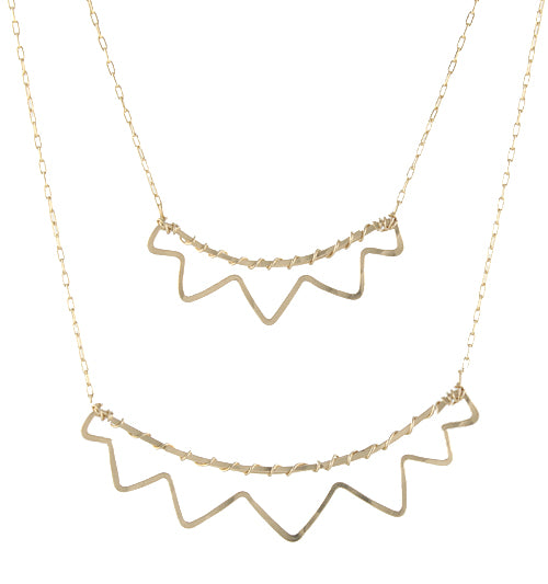 Open Sunburst Necklace