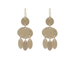 Golden Ovals Earrings