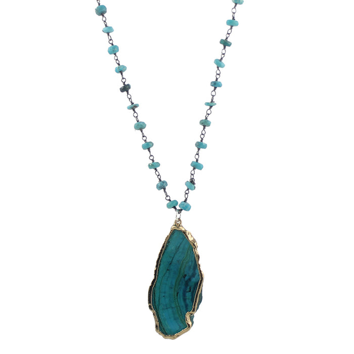 Azurite and Turquoise Necklace