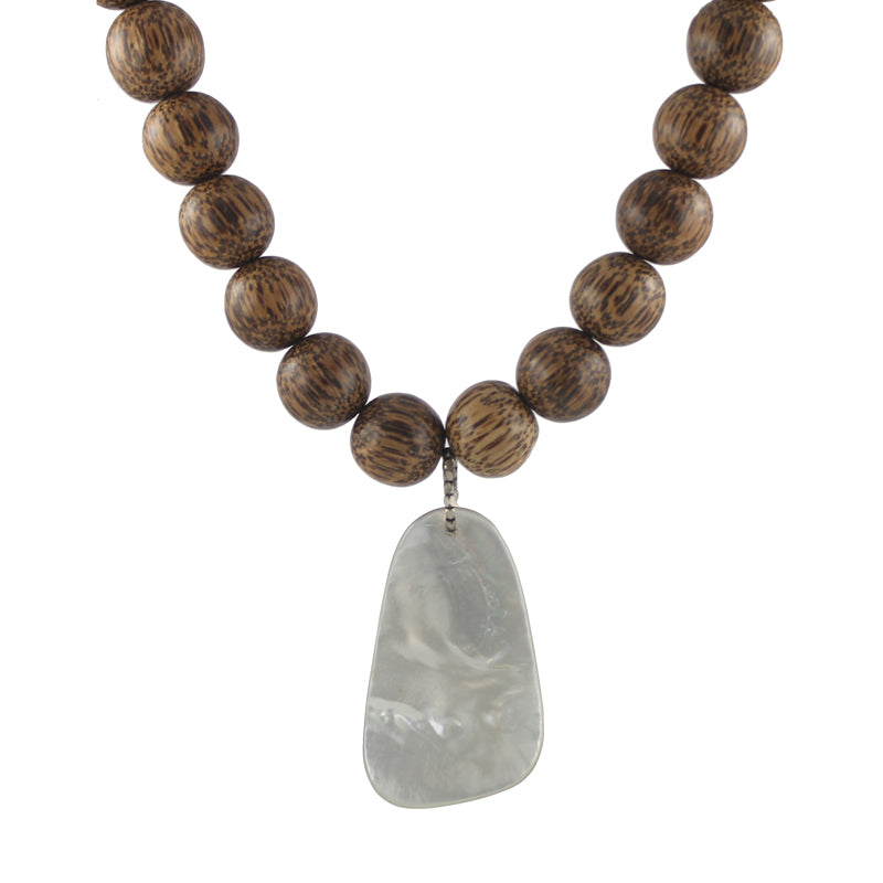 Wood and Shell Necklace