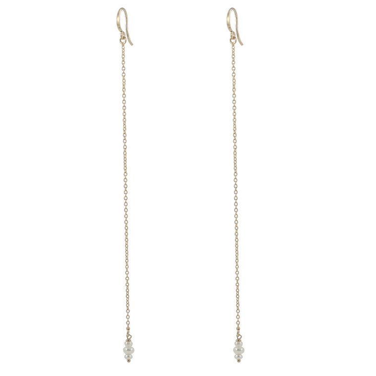 Stacked Pearl Shoulder Duster Earrings