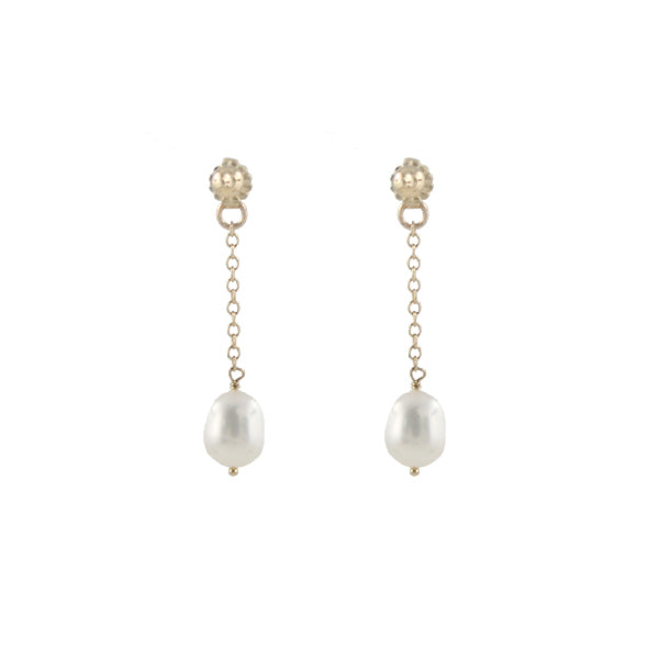 Pearl Post and Ear Jacket Earrings