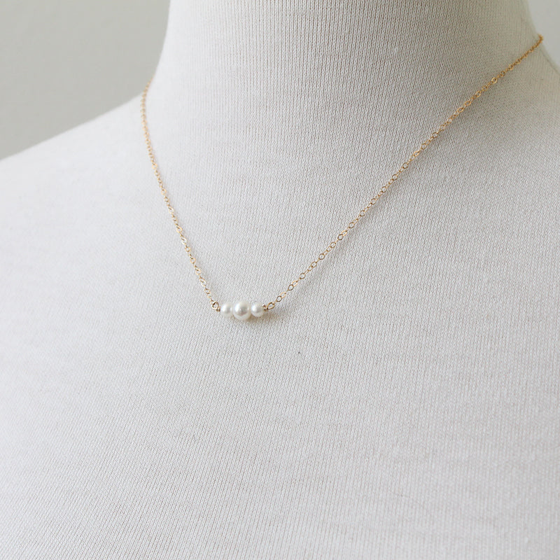 Pearl Slice Necklace sterling silver