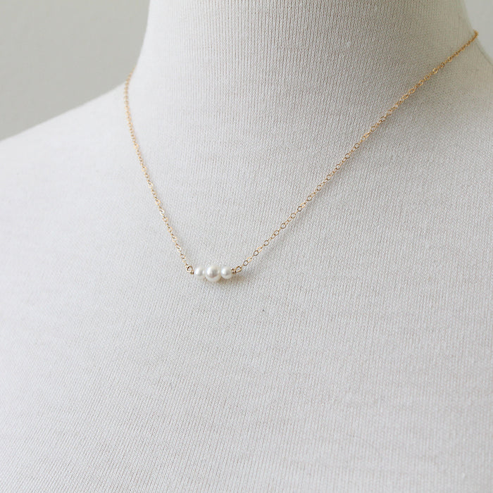 Pearl Slice Necklace by Peggy Li