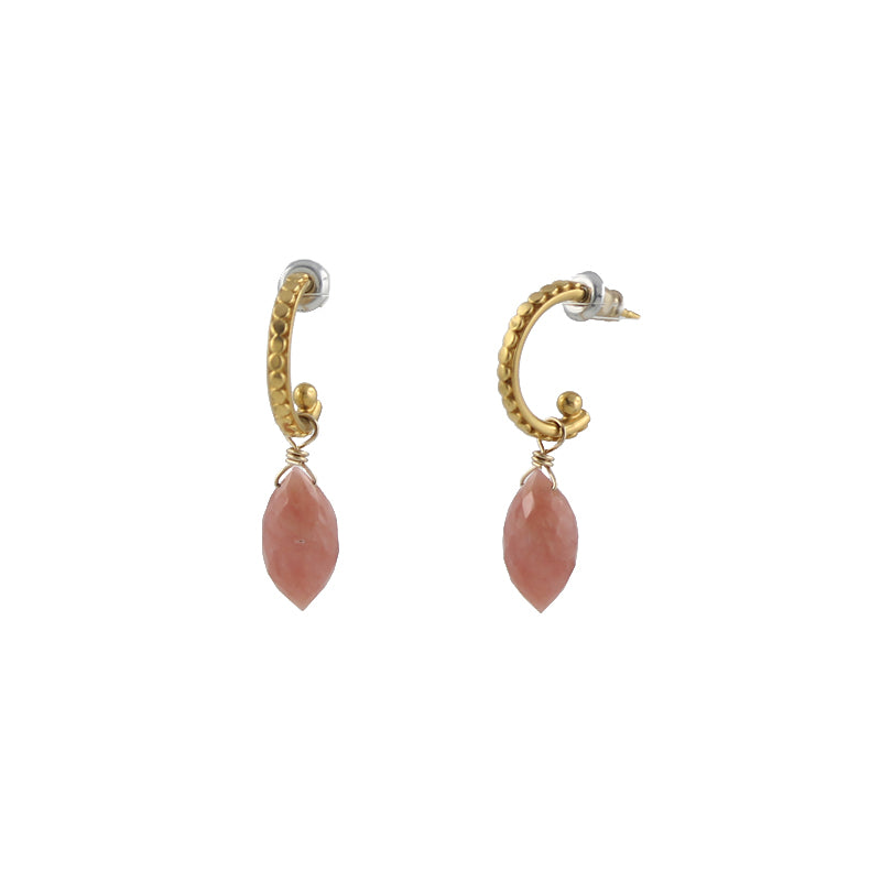 Pink Opal Arch Earrings
