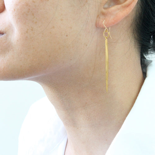 Large Quill Earrings - detail