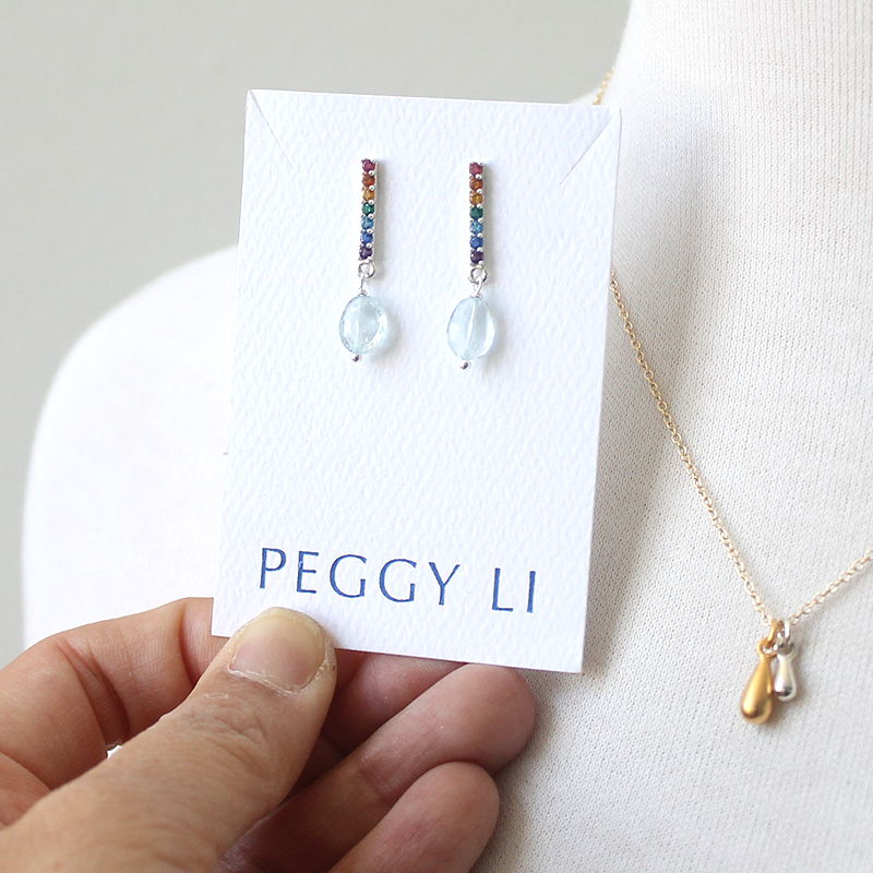 Rainbow Bar Earrings by Peggy Li
