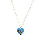 Retro Rainbow Heart Necklace