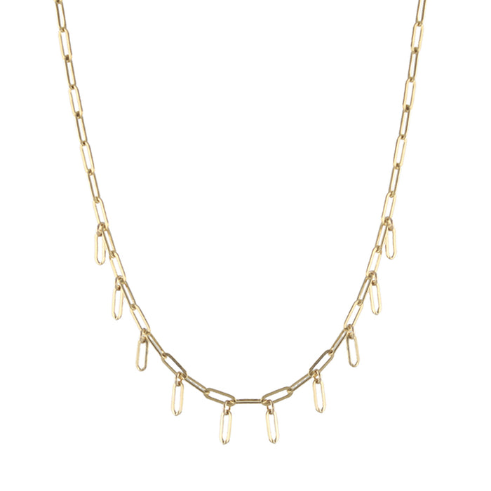 Rectangle Fringe Necklace